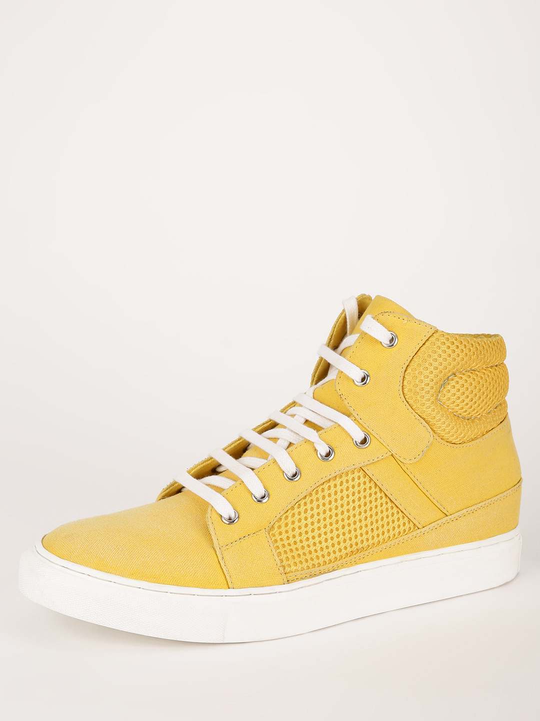 KOOVS Yellow High Top Lace Up Shoes 1