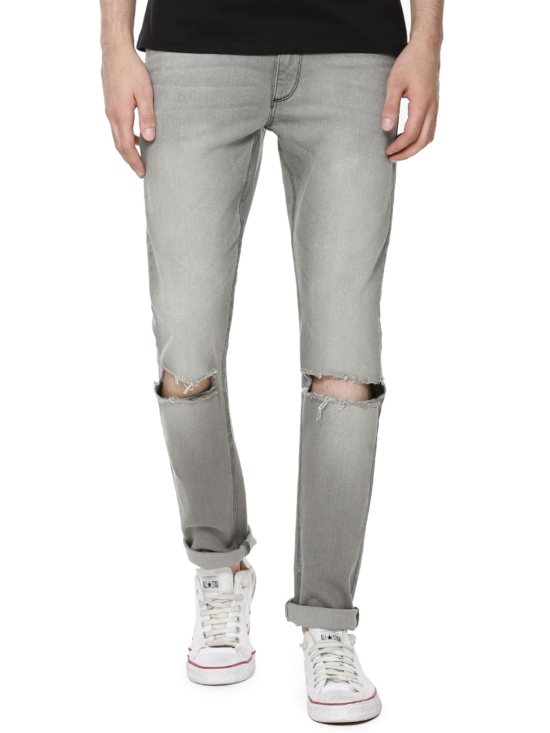 Blue Saint Knee Rip Slim Jeans...