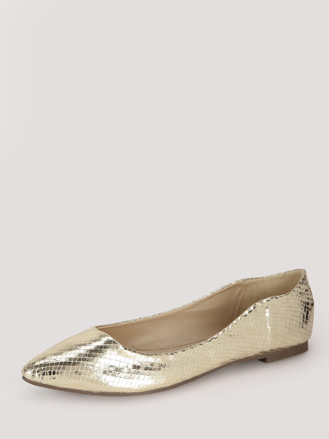 My Foot Couture Gold Textured Pointed Flats 1