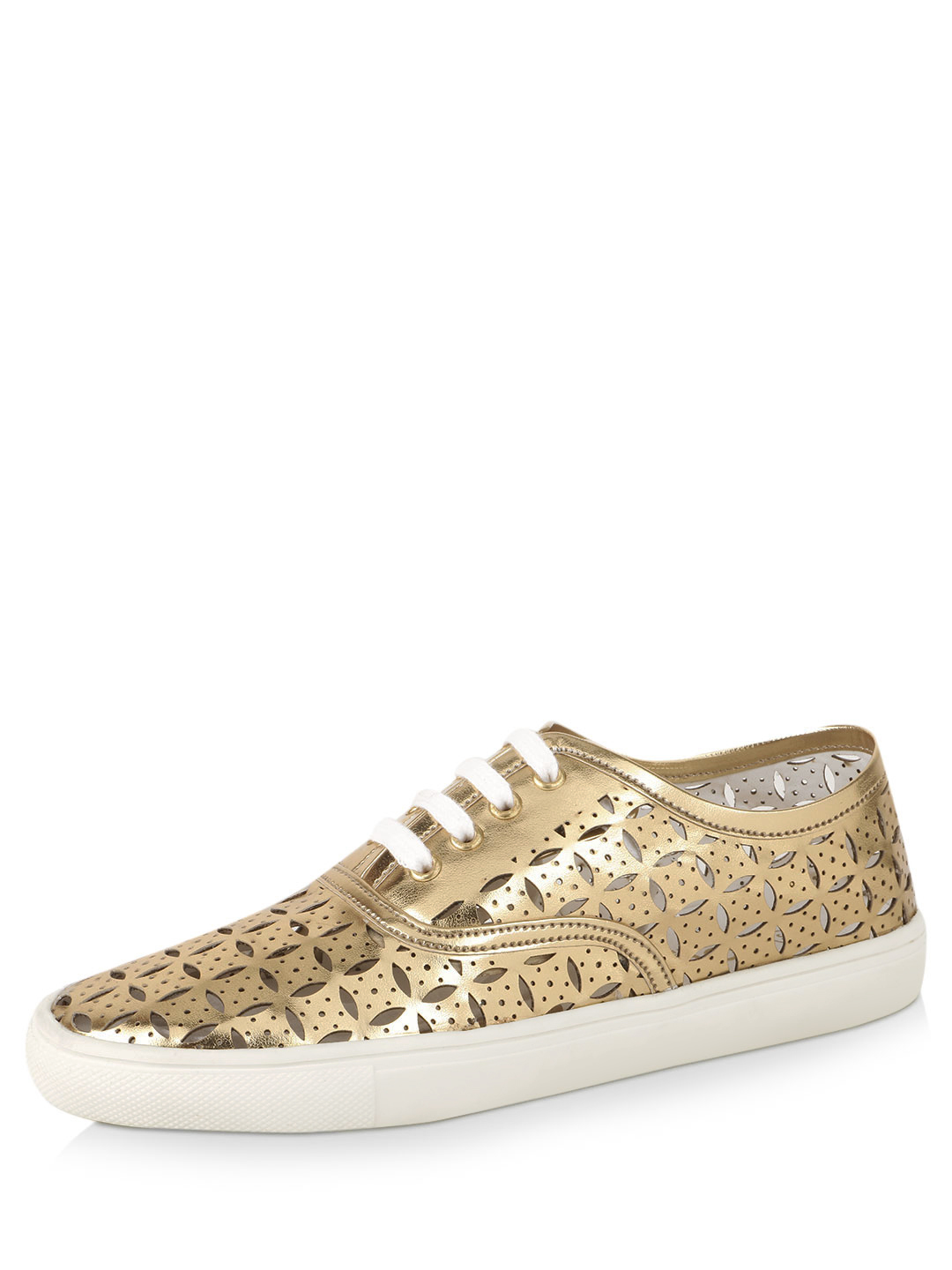 KOOVS Gold Perforated Trainers 1