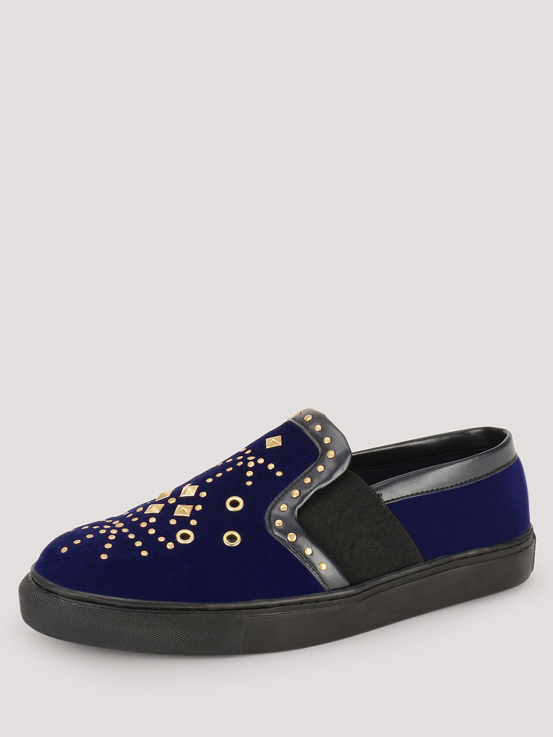 KOOVS Navy Stud Detail Slip On Plimsolls 1
