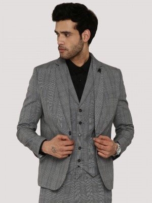 KOOVS Tonal Check Three Piece ...