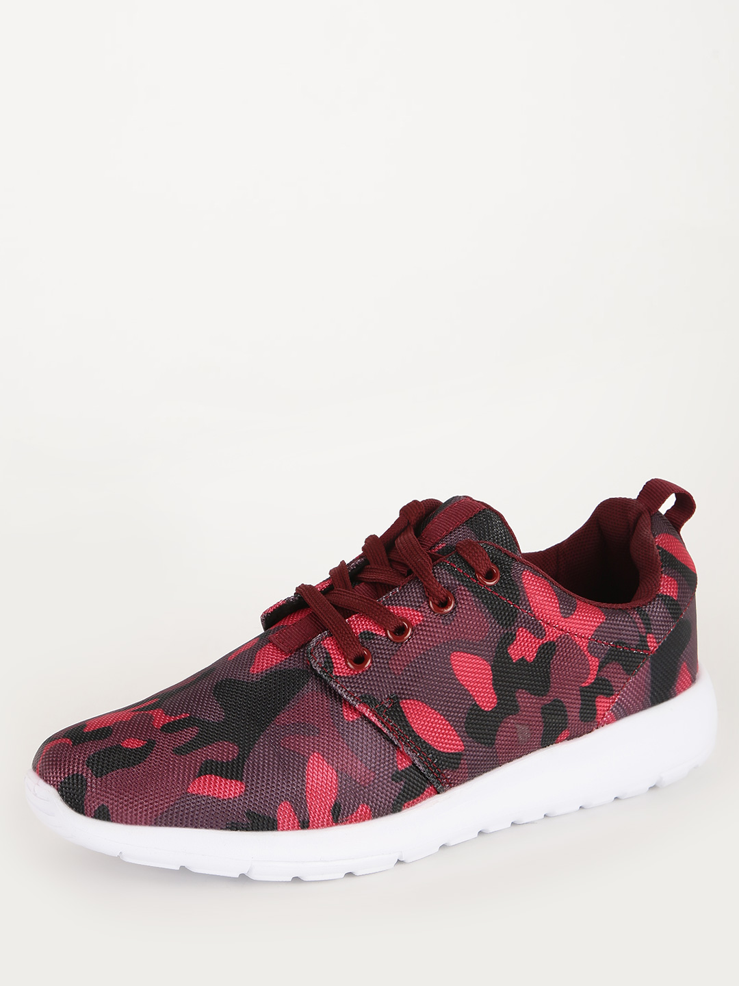 No Doubt RED/MULTI Camo Print Trainers 1