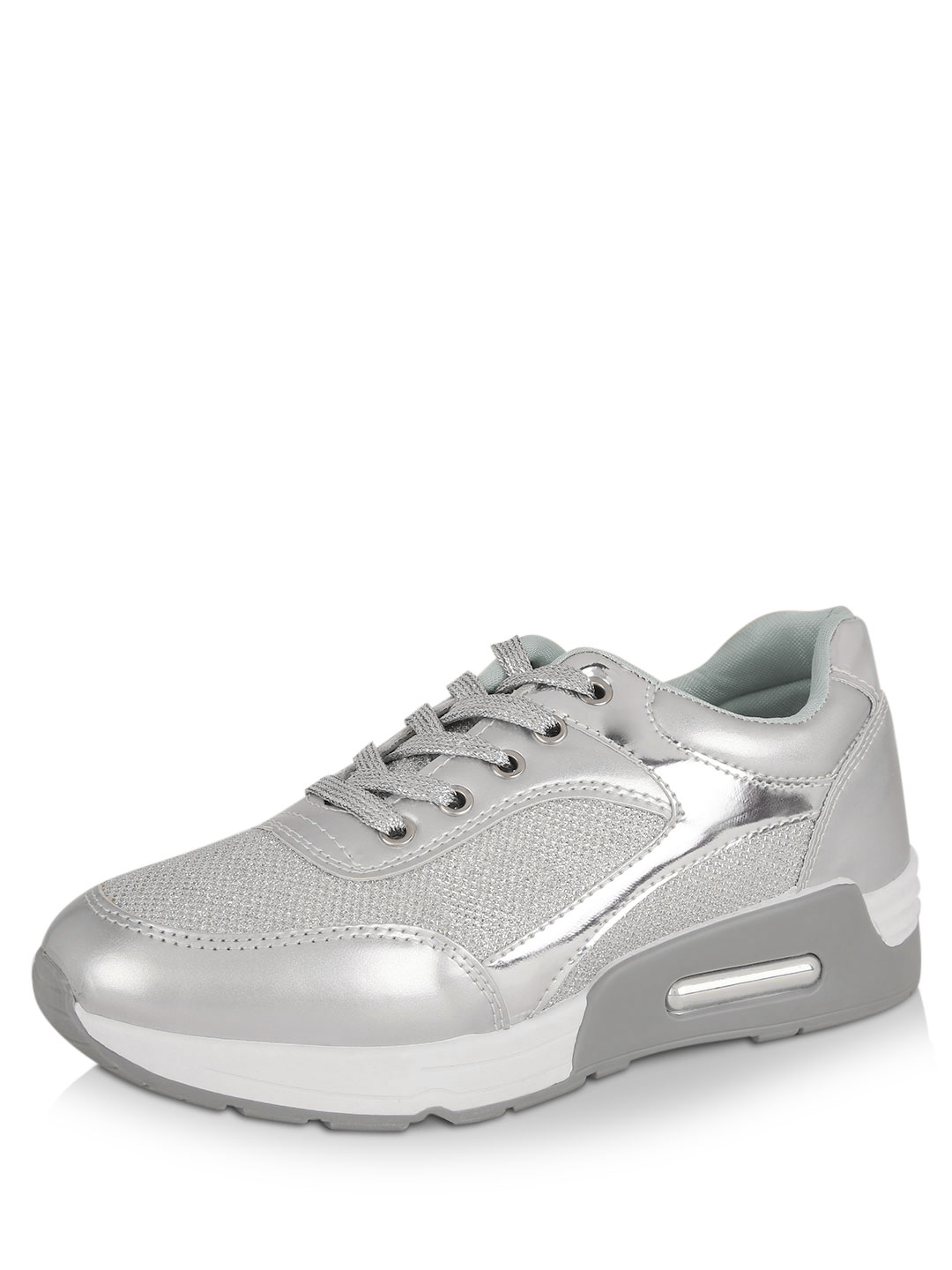 No Doubt Silver Panelled Trainers 1