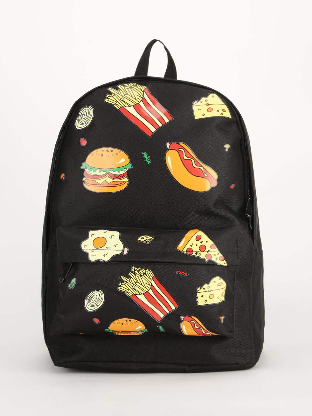 Eristona Black Foodie Patched Backpack 1