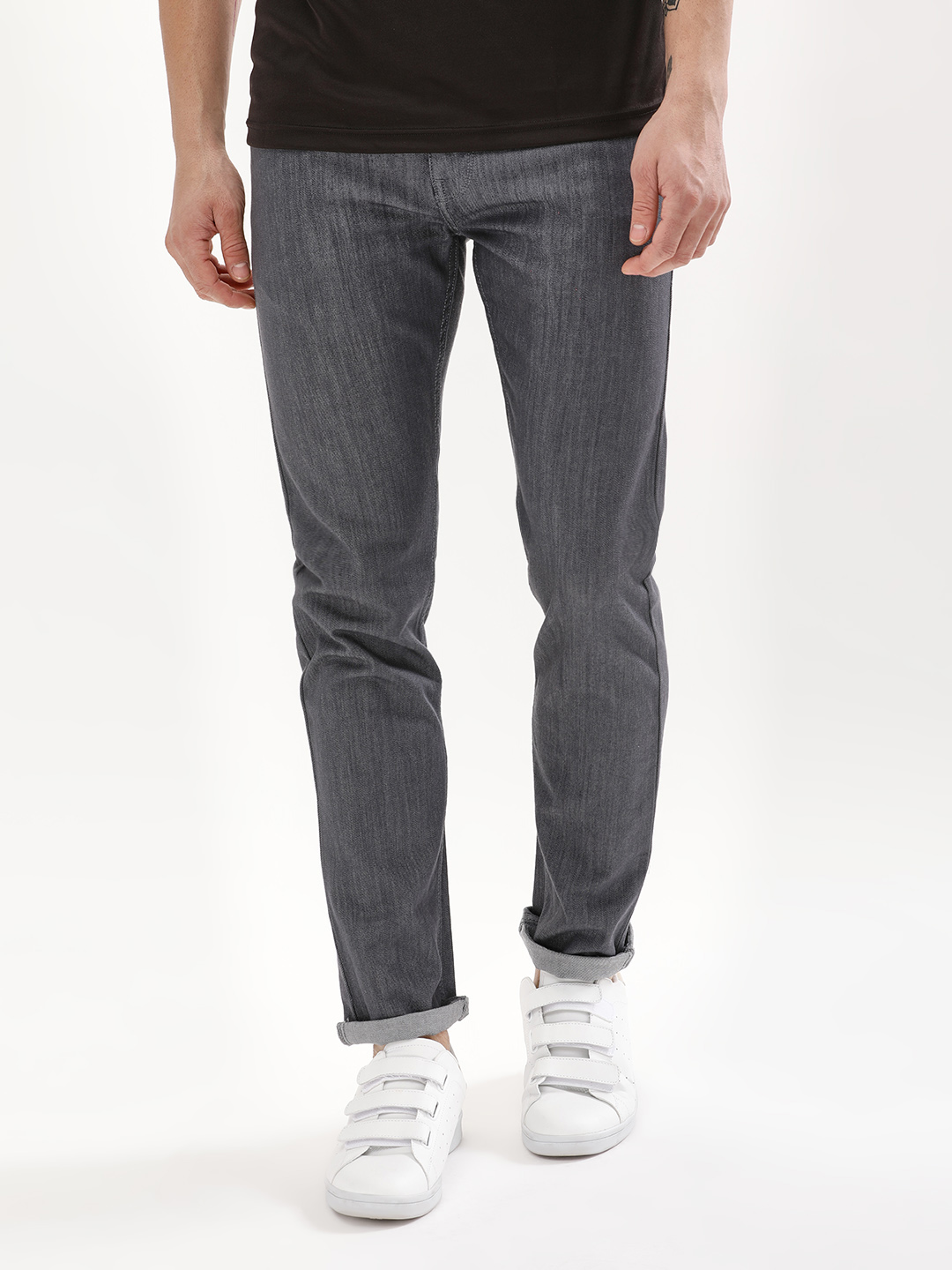 Blue Saint Grey Exclusive Charcoal Washed Slim Jeans 1