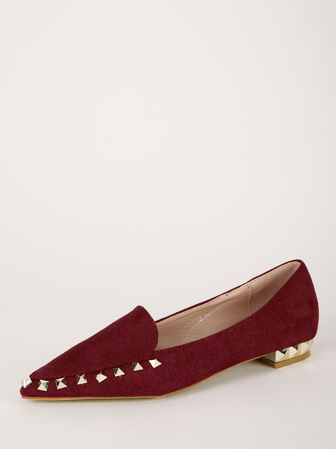 My Foot Couture Bordeaux Studded Flat Shoes 1