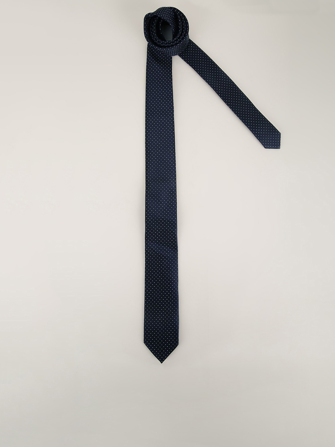 New Look Navy Page Spot Print Tie 1