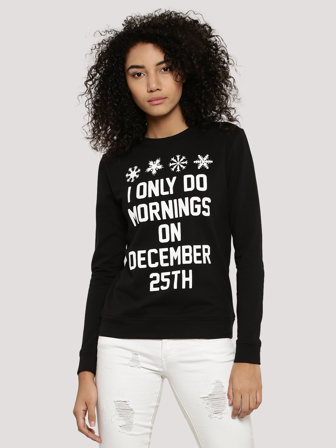 KOOVS Black I Only Do Mornings At Christmas Sweater 1
