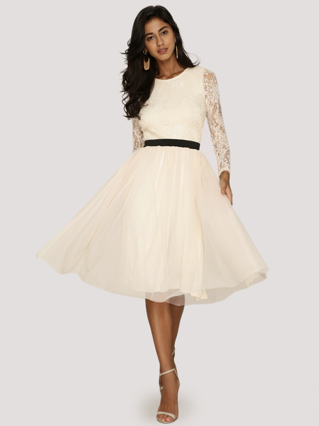 KOOVS Lace Bodice Tulle Dress...
