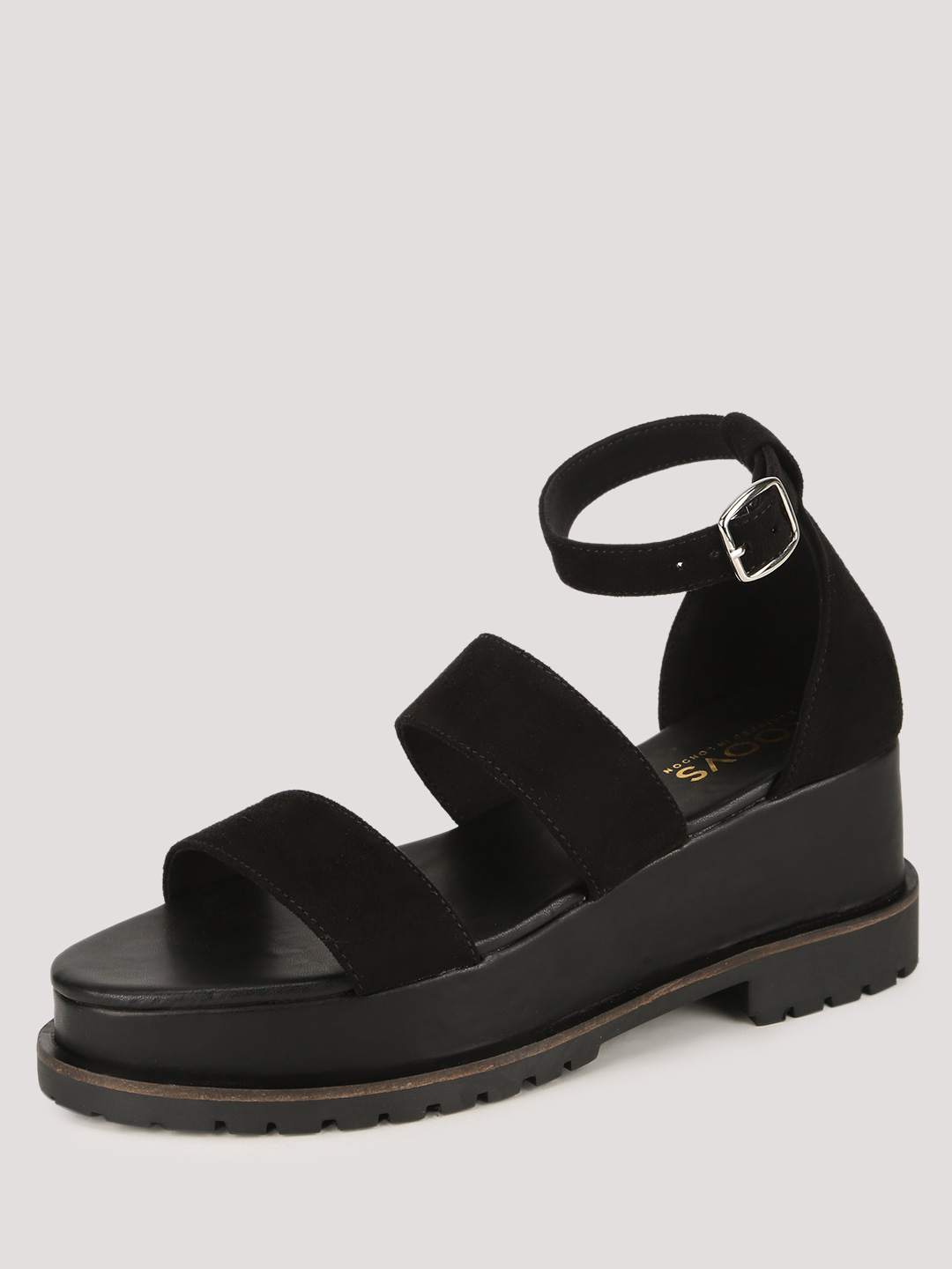 KOOVS 3 Strap Wedges With Cleated Sole
