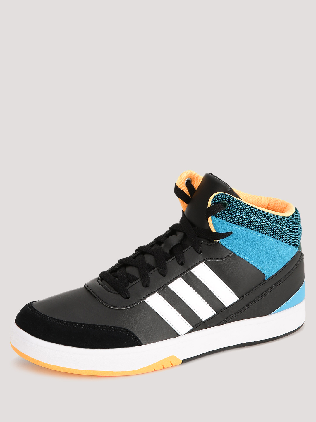 Adidas Neo Black/White/Gold/Blue Flip Mid Low Trainers 1