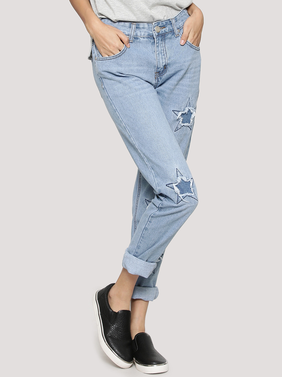 Boohoo Cut Out Star Jeans...