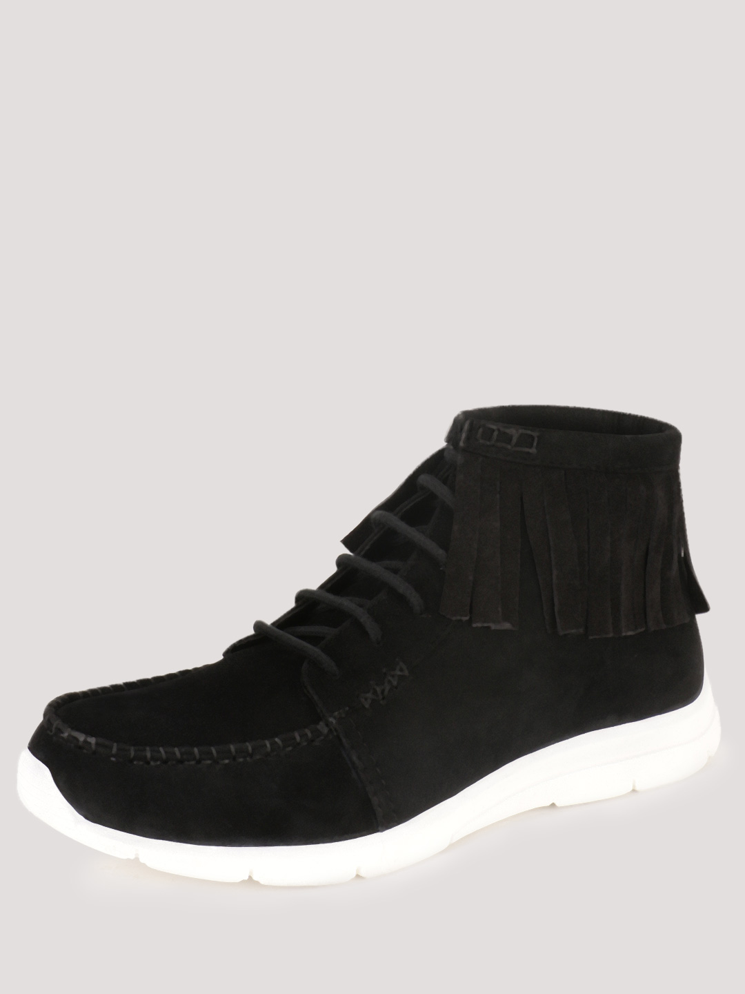 KOOVS Black Fringed Ankle Boots 1