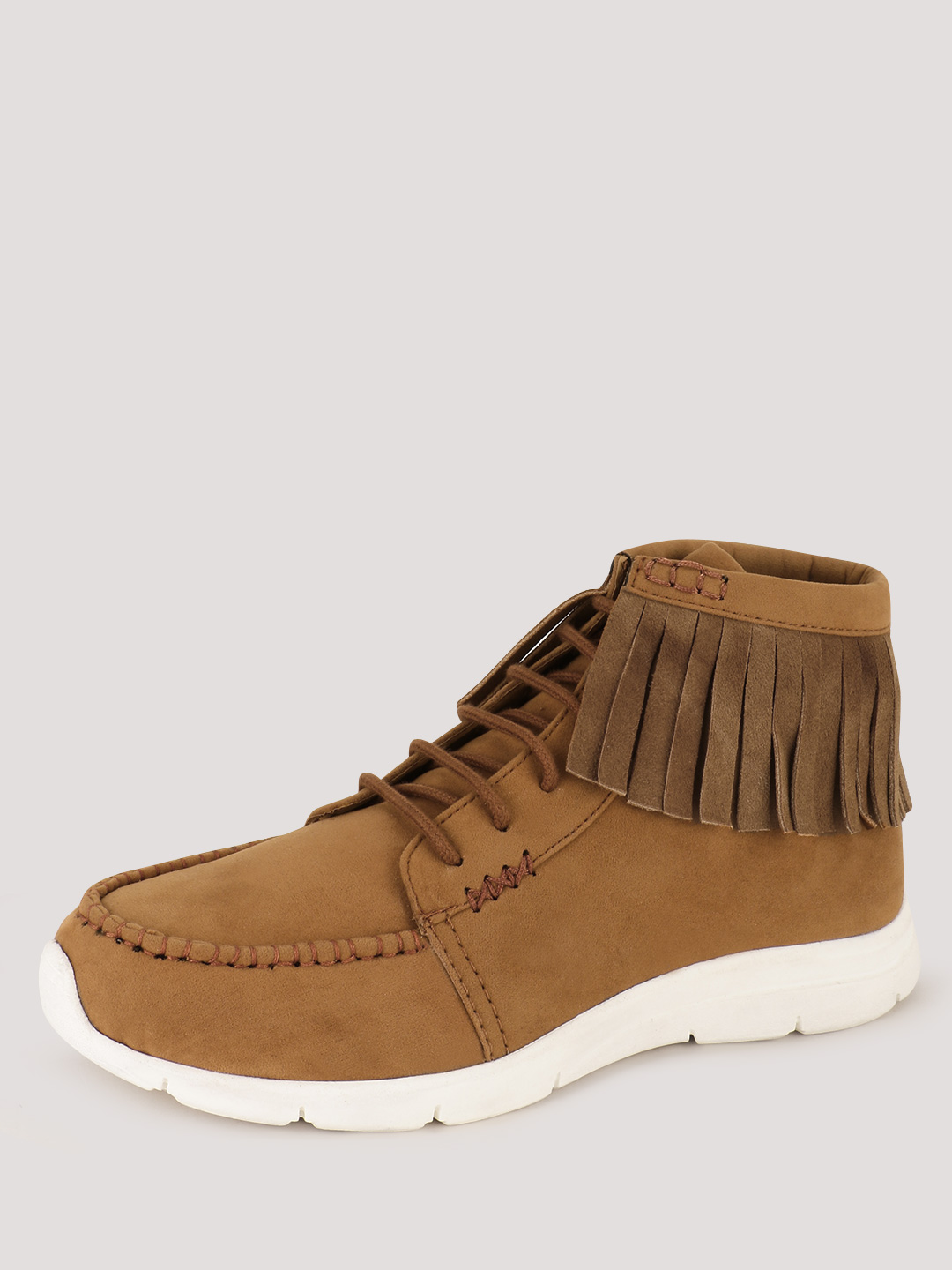 KOOVS Tan Fringed Ankle Boots 1