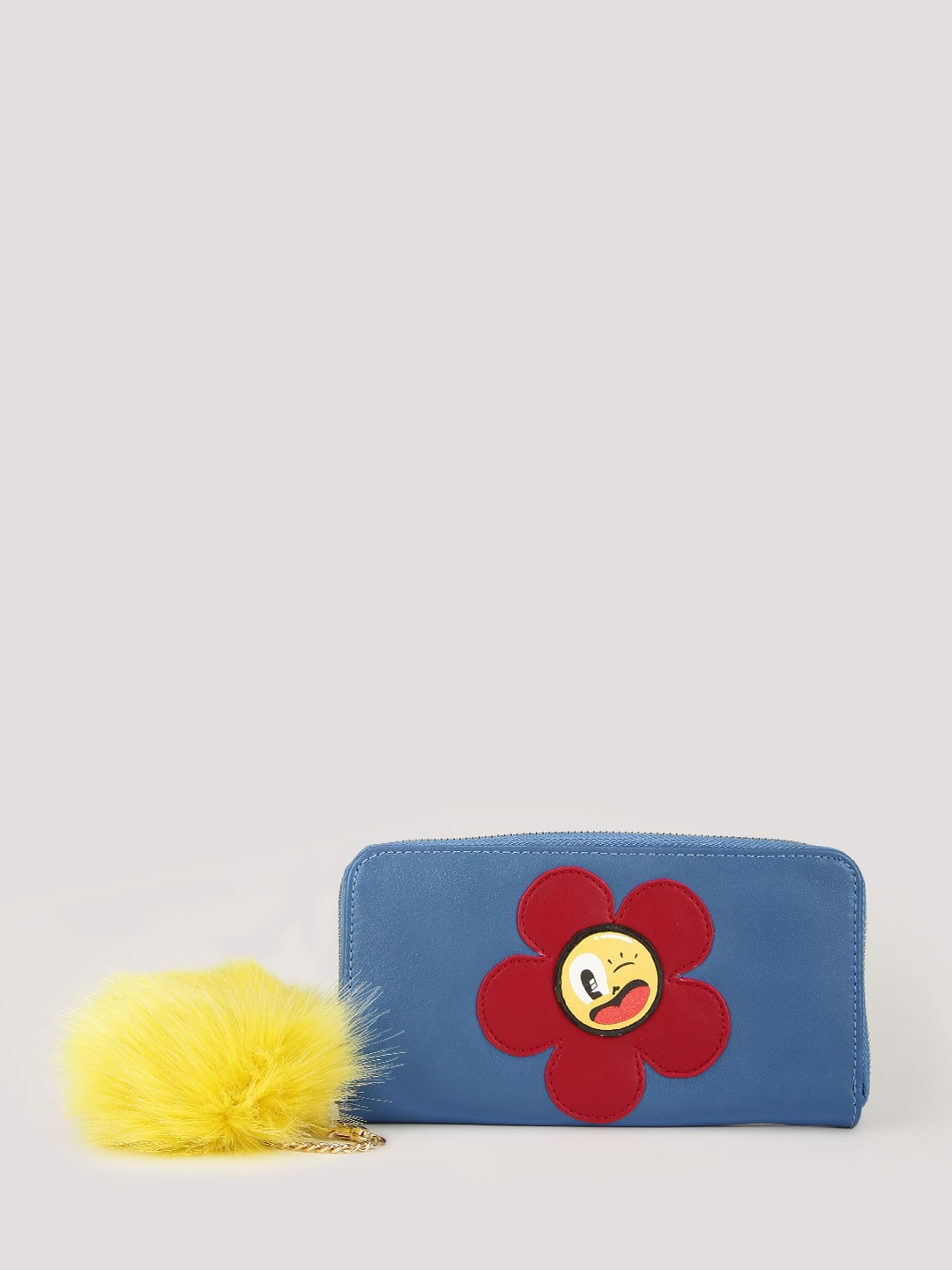 HATTIE X KOOVS Multi Flower Purse With Pom Pom 1