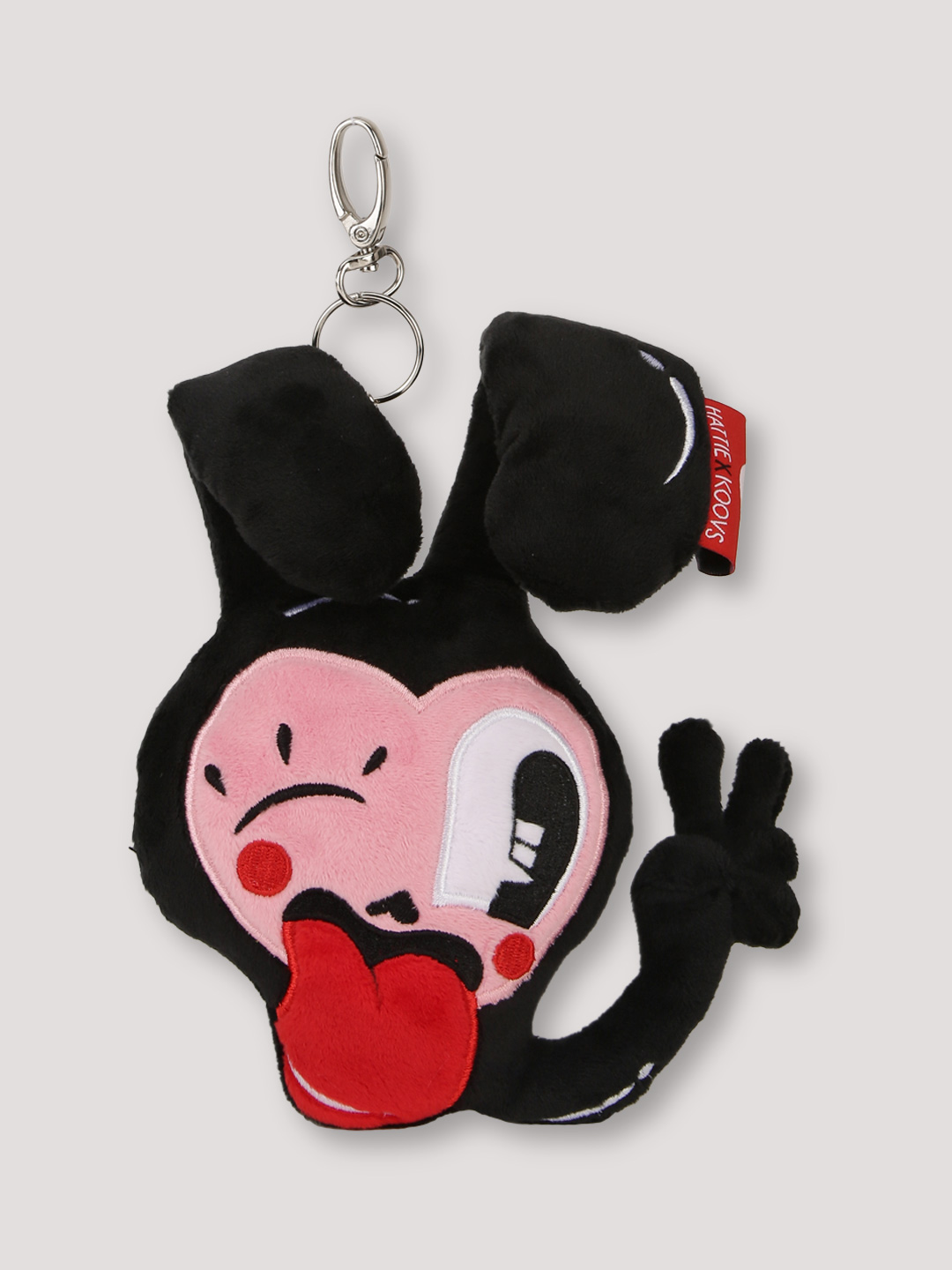 HATTIE X KOOVS Black Bunny Face Bag Charm 1