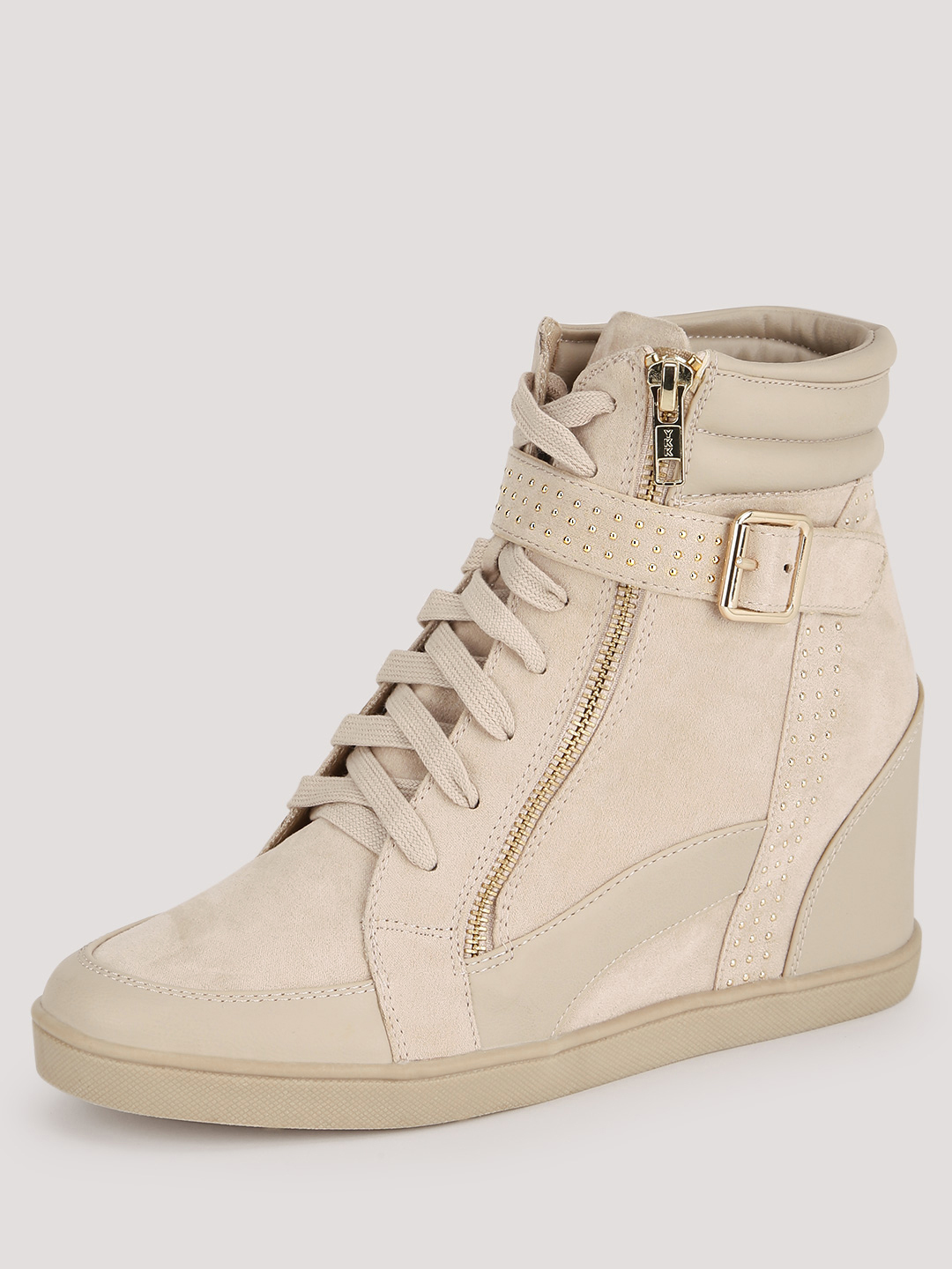 Buy Forever New Nude Wedge Trainers for