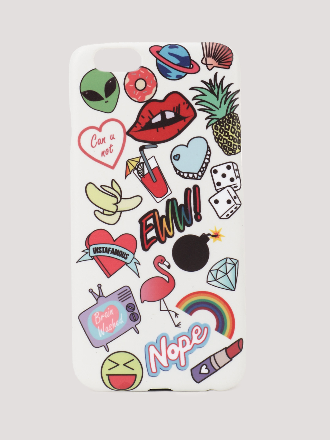 Style Fiesta Multi Quirky Patch iPhone Case 1