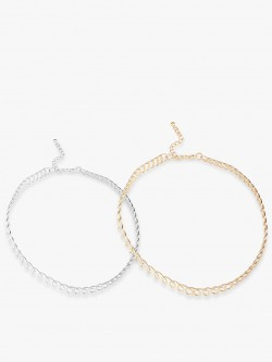 Eristona Metal Tattoo Chokers (Set Of 2)
