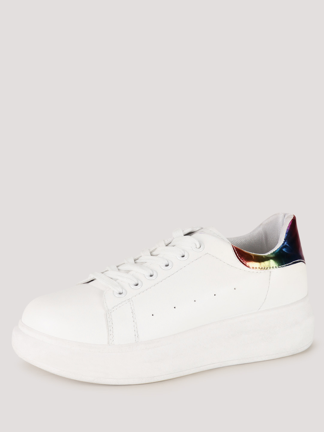 Sole Story White Multi Metallic Counter Detail Trainers 1