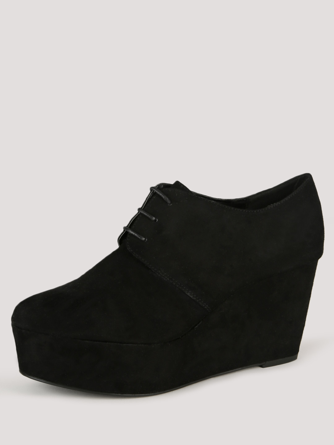 New Look Flatform Lace Up Wedg...