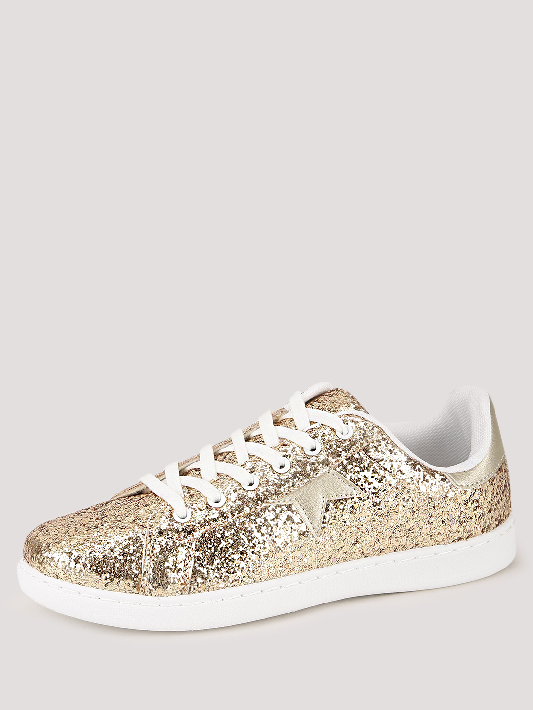No Doubt Glitter Gold All Over Glitter Star Trainers 1