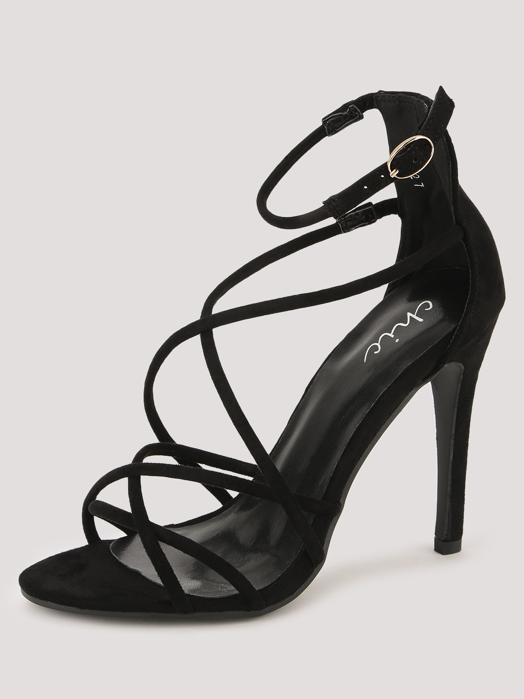 No Doubt Black Dainty Strap Sandals 1