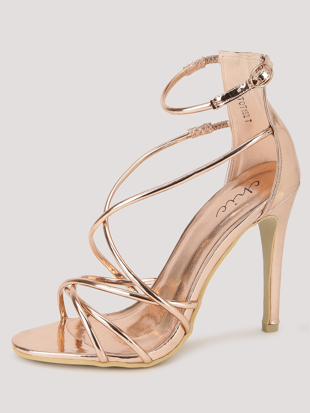 No Doubt Rose Gold Dainty Strap Sandals 1