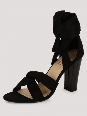 INTOTO Soft Tie Heeled Sandals...