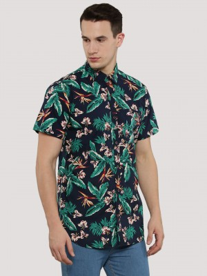 ADAMO LONDON Hawaiian Print Sh...