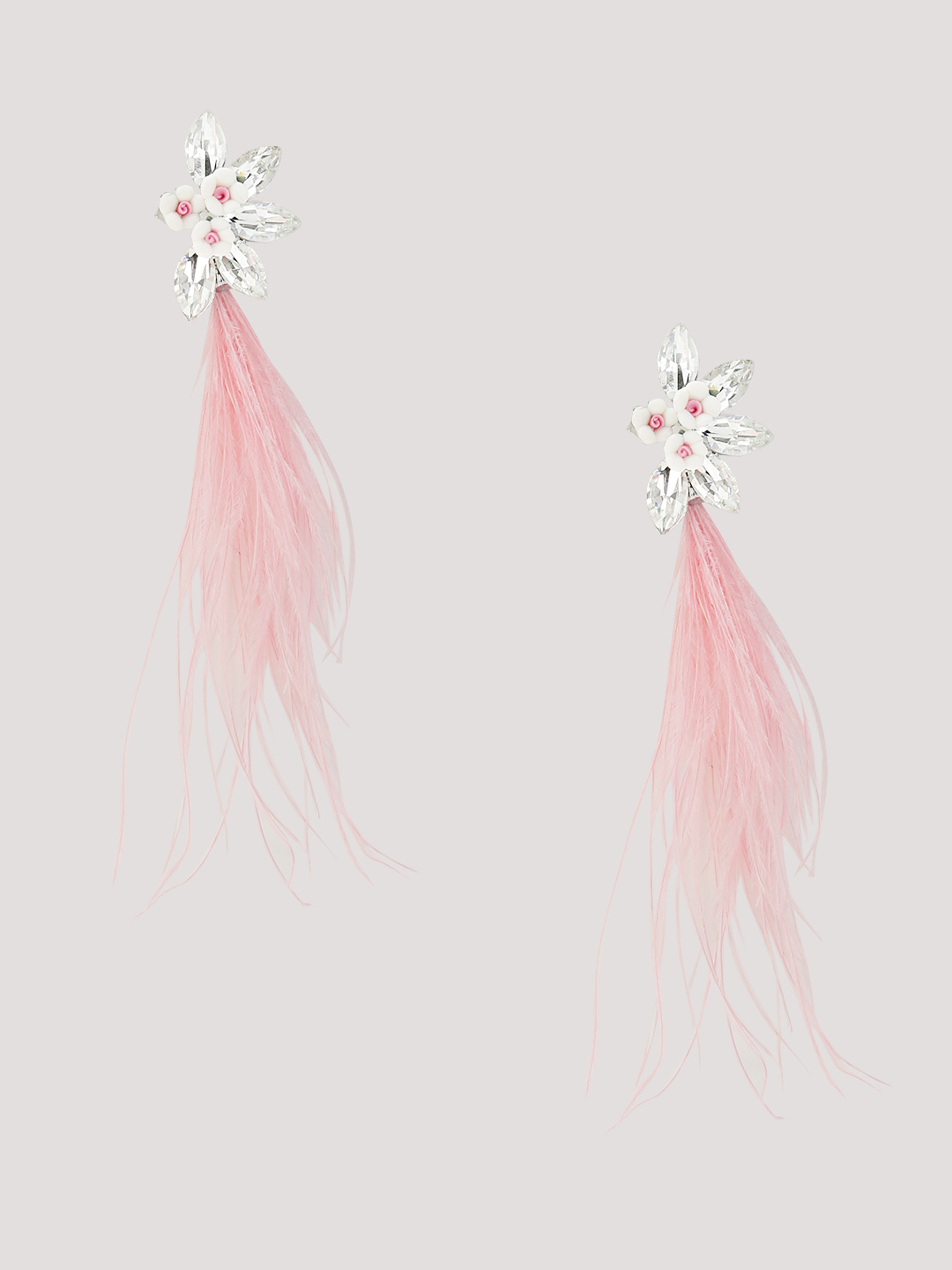 Pipa Bella Pink Feather Earrings 1