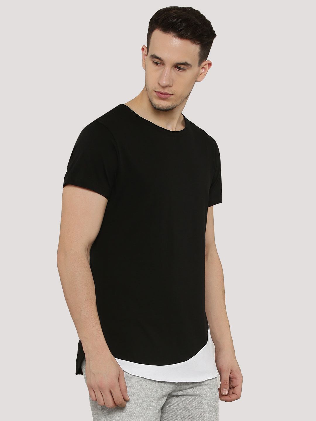 Mr Button T-Shirt With Asymmet...