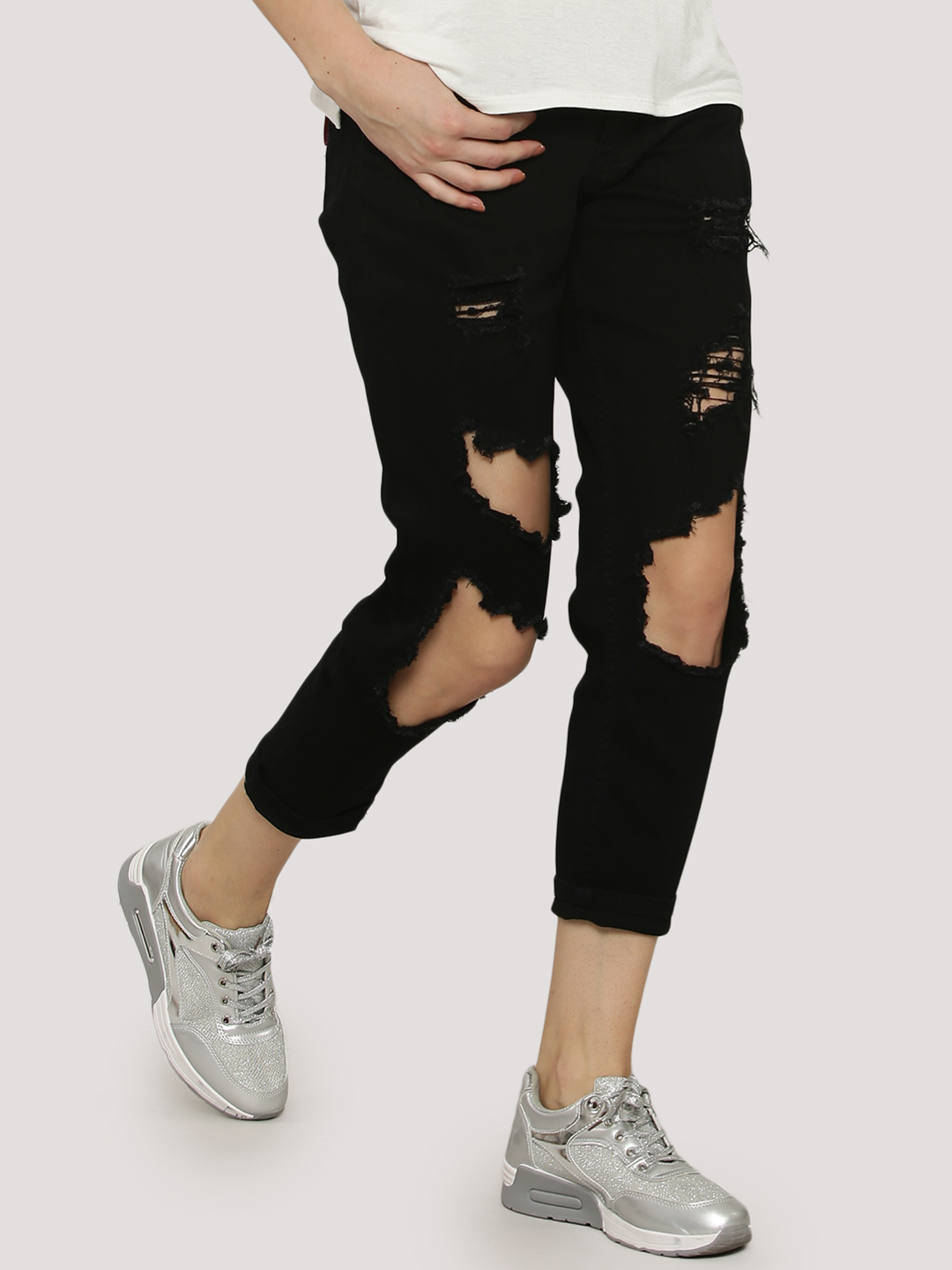 The Classic Black Destroyed Jeans 1