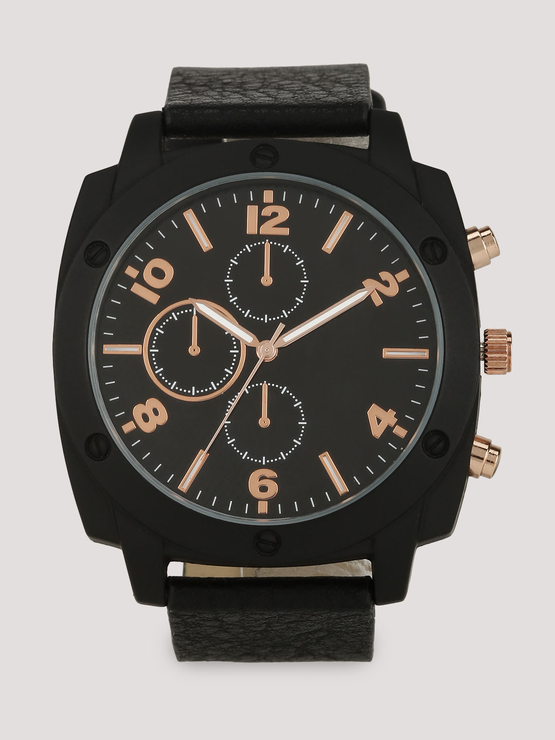 New Look Black Analog Rose Gold Watch 1