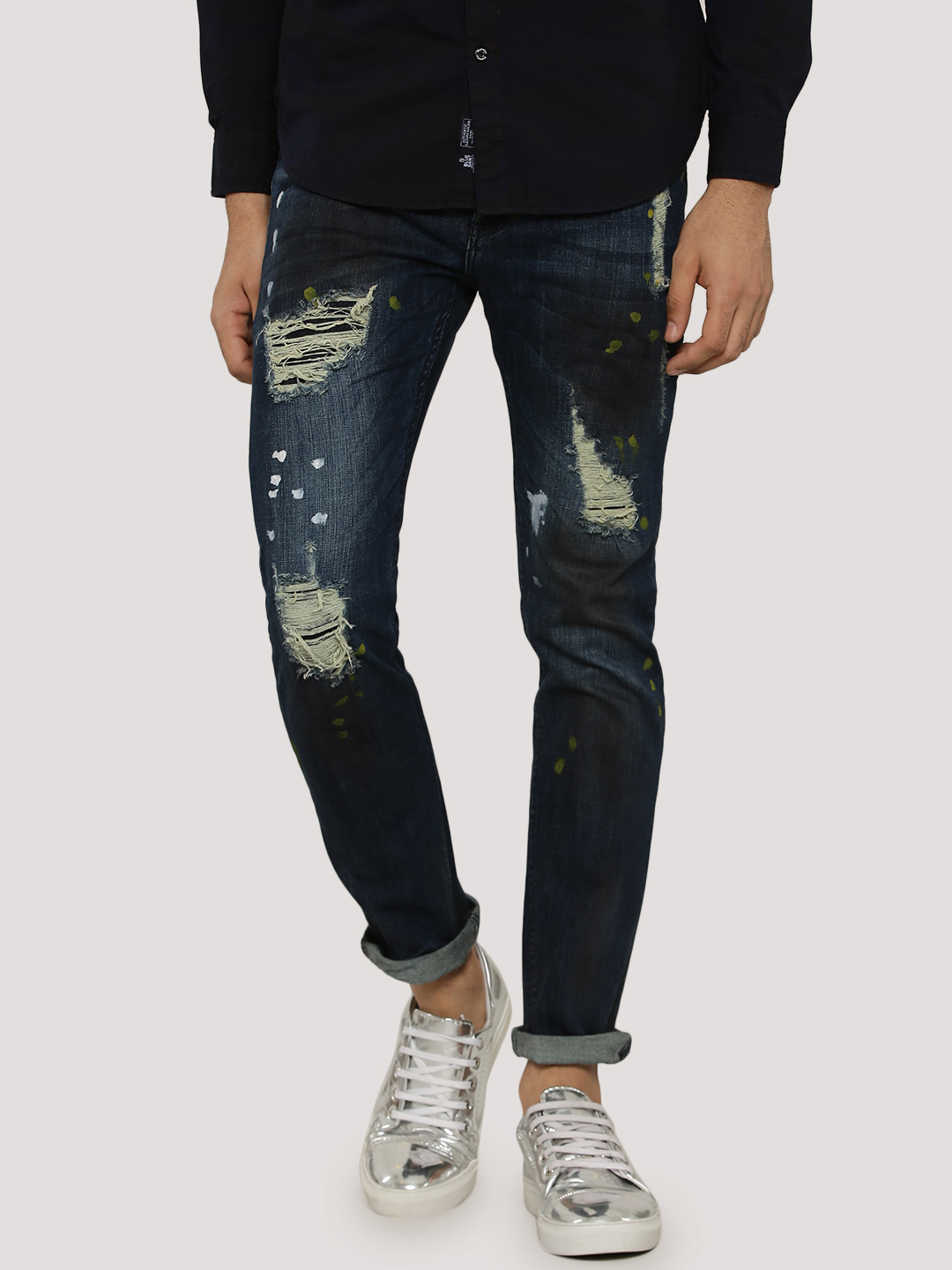 Blue Saint Slim Jeans With Rip...