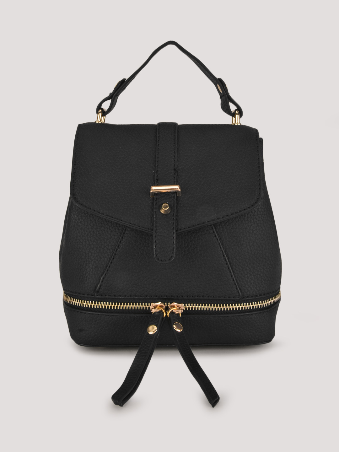 Origami Lily Black Sling Backpack 1