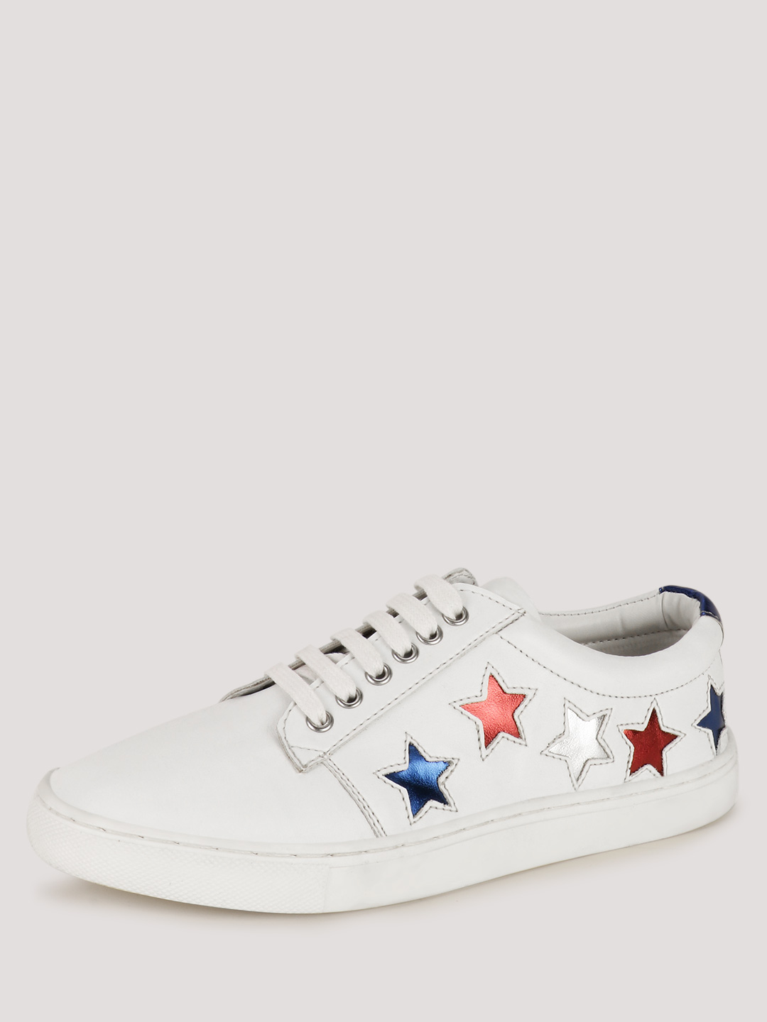 KOOVS White Star Applique Lace Up Trainers 1