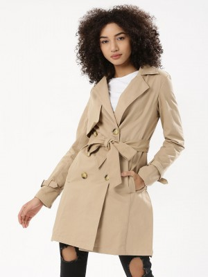 KOOVS Draped Trench Coat...