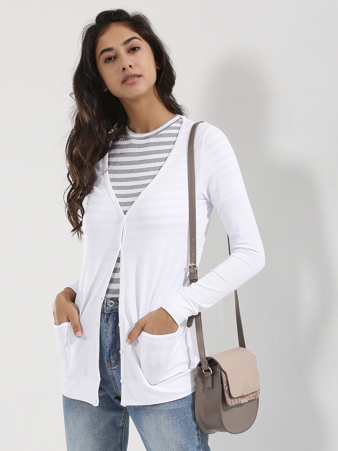 KOOVS White Button Through Longline Cover Up 1