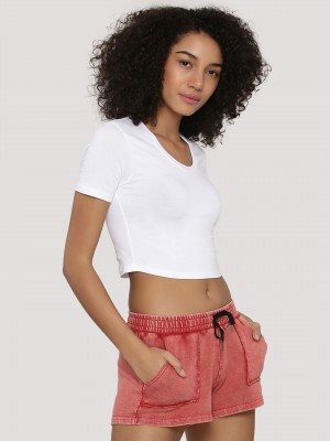 KOOVS Deep Scoop Neck Crop Top...