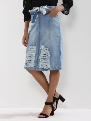 KOOVS Distressed Zip Through D...