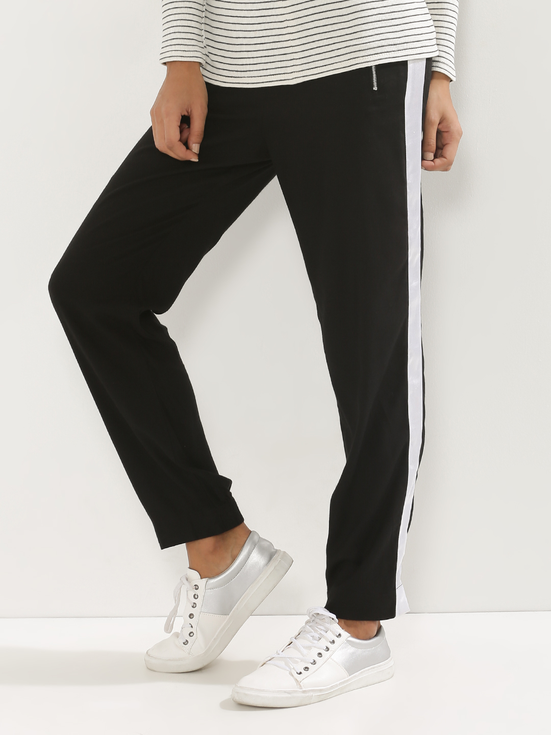 KOOVS Side Stripe Narrow Leg J...