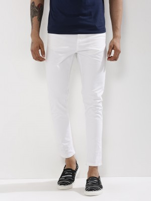 K DENIM White Skinny Fit Jeans...