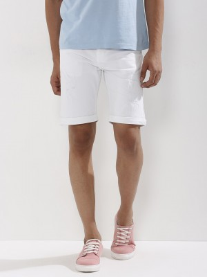 KOOVS Ripped Slim Fit Shorts...