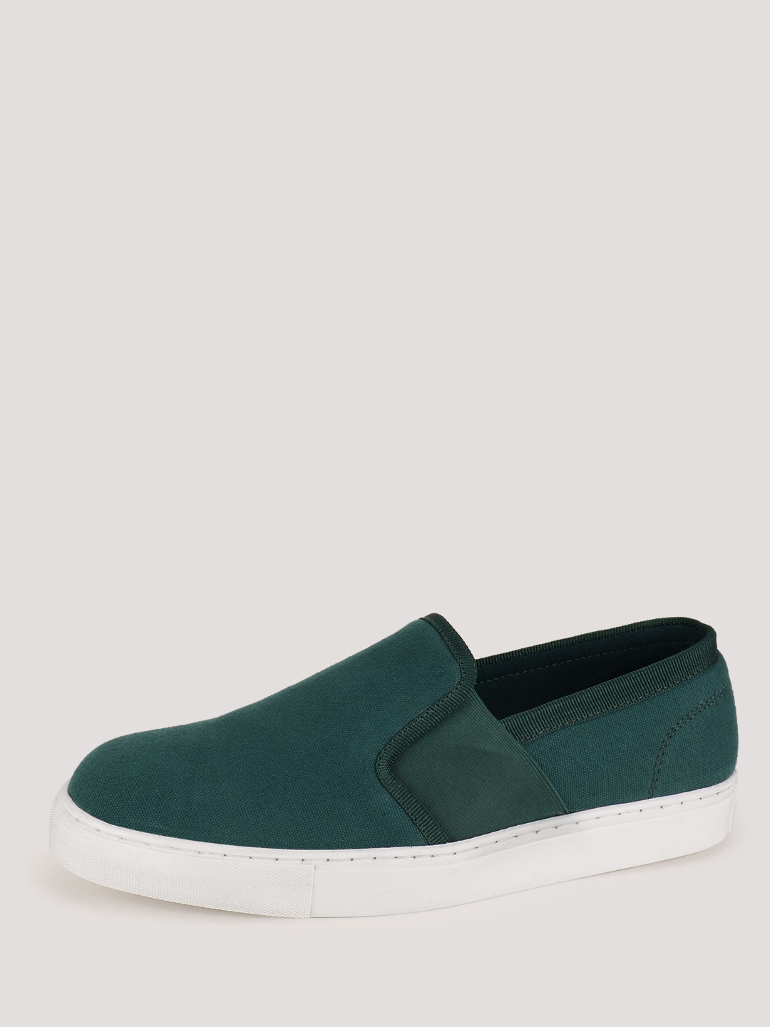 KOOVS Green Elasticated Side Slip-On Shoes 1