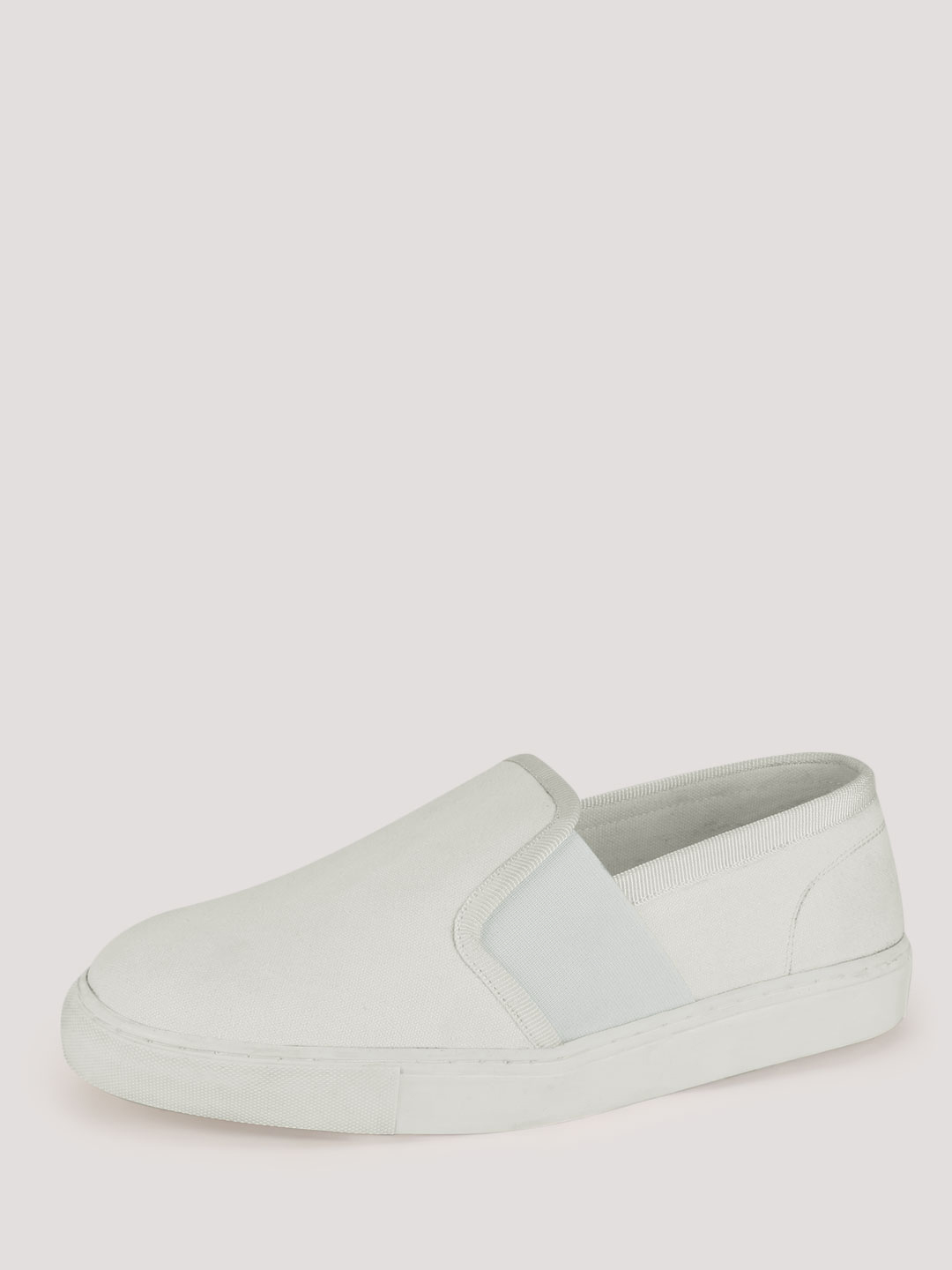 KOOVS White Elasticated Side Slip-On Shoes 1