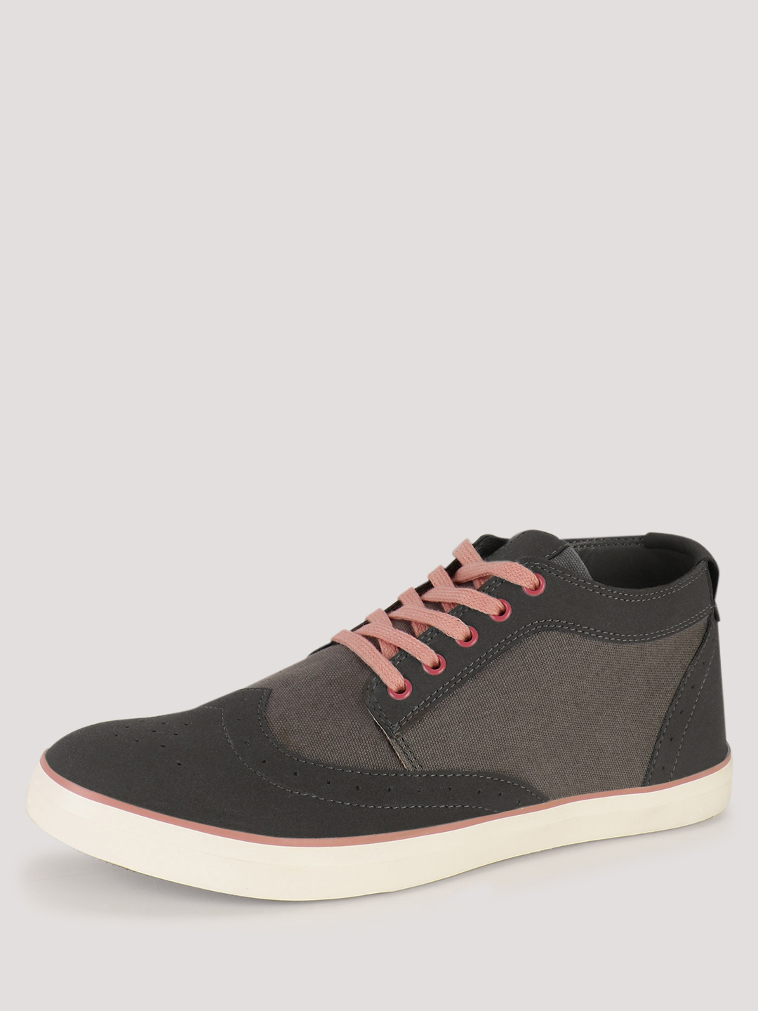 KOOVS Grey Brogue Trainers 1