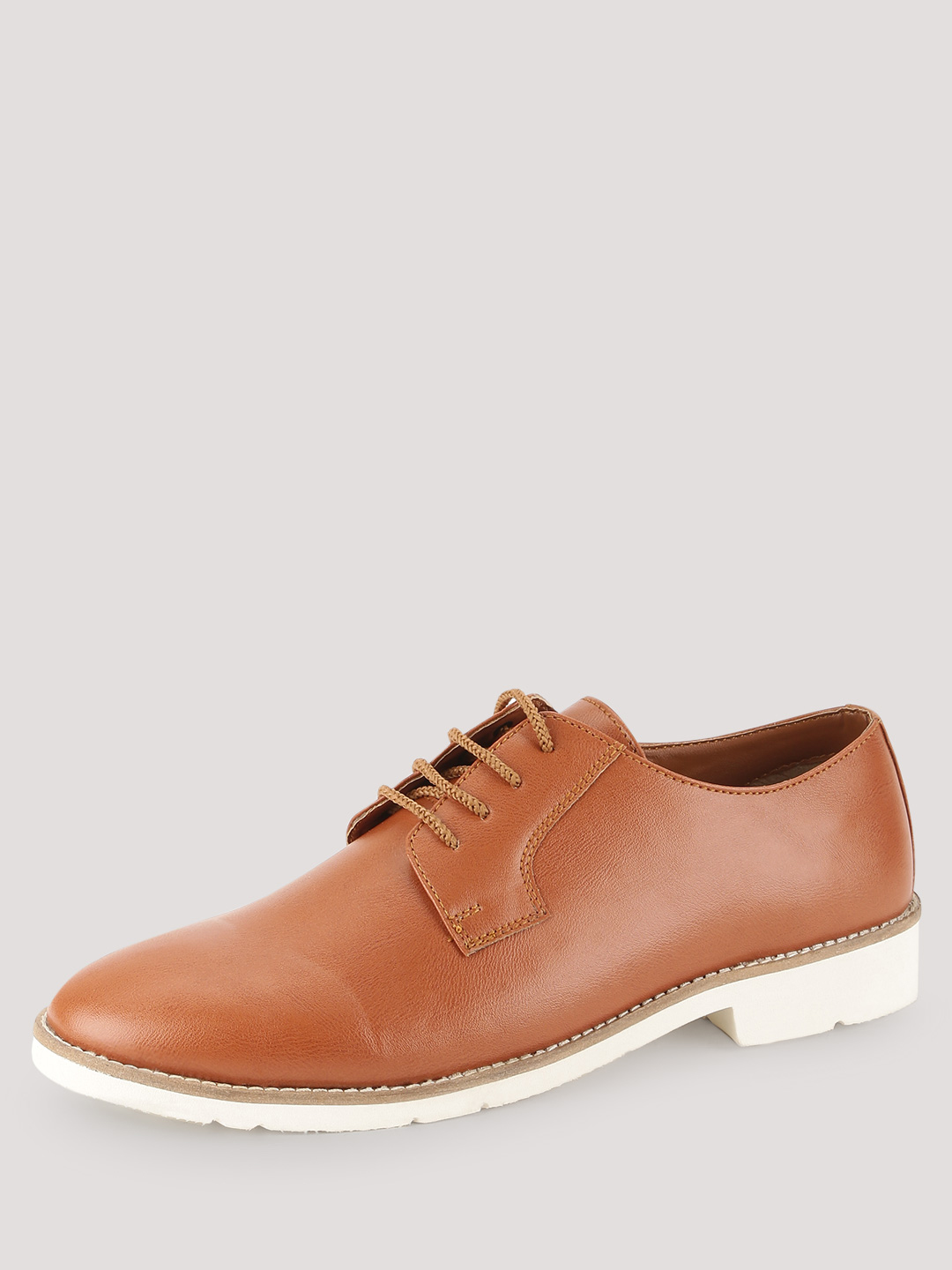 KOOVS Brown Clean Lace Up Shoes 1