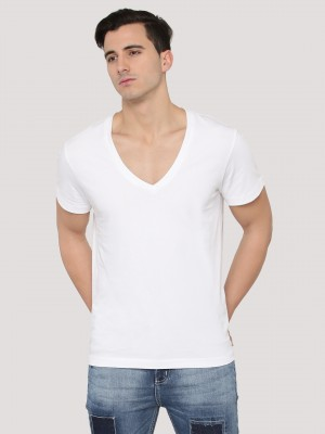 KOOVS Deep V-neck Muscle Fit T...